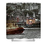 Under The Bridge Shower Curtain by Wayne Sherriff
