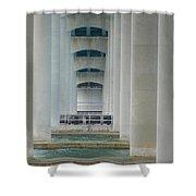 Under The Brigantine Bridge Shower Curtain