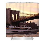 Under The Brooklyn Bridge  Shower Curtain