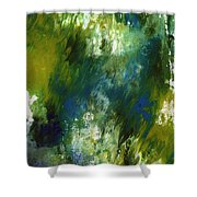 Under The Canopy- Abstract Art By Linda Woods Shower Curtain