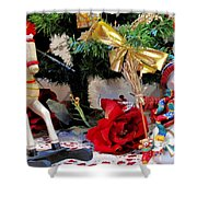 Under The Christmas Tree Shower Curtain