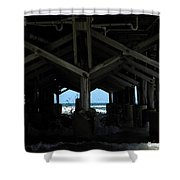 Under The Daytona Beach Pier 002 Shower Curtain