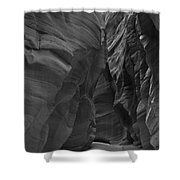 Under The Desert In Black And White Shower Curtain