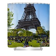 Under The Eiffel Tower, Paris Shower Curtain