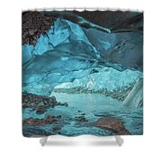 Under The Glacier Shower Curtain