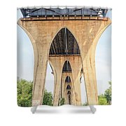 Under The Leo Frigo Bridge Green Bay  Shower Curtain