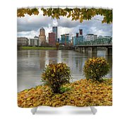 Under The Maple Tree In Portland Oregon During Fall Shower Curtain