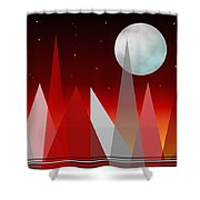 Under The Night Sky Shower Curtain