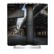 Under The Overpass I Shower Curtain by Break The Silhouette