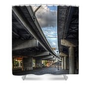 Under The Overpass II Shower Curtain by Break The Silhouette