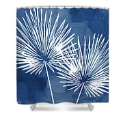 Under The Palms- Art By Linda Woods Shower Curtain