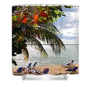 Under The Palms In Puerto Rico Shower Curtain