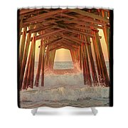 Under The Pier At Dawn Shower Curtain