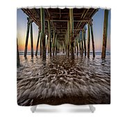Under The Pier At Old Orchard Beach Shower Curtain
