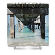 Under The Pier Shower Curtain by Lynn Jackson
