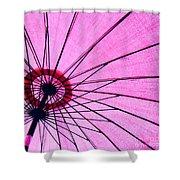 Under The Pink Umbrella Shower Curtain