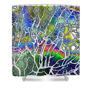 Under The Sea Abstract Shower Curtain