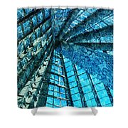 Under The Sea Dwelling Abstract Shower Curtain