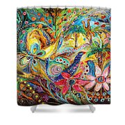 Under The Shadow Of Date Tree Shower Curtain