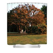 Under The Tree Shower Curtain