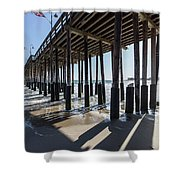 Under The Ventura Pier In Southern California Shower Curtain
