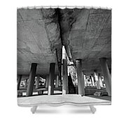 Under The Viaduct A Urban View Shower Curtain