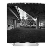 Under The Viaduct D Urban View Shower Curtain