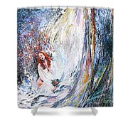 Under The Waterfall Shower Curtain