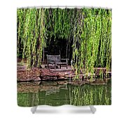 Under The Willows 7749 Shower Curtain