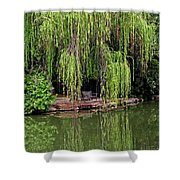 Under The Willows 7758 Shower Curtain