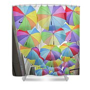 Under Umbrellas Shower Curtain