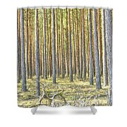 Underbrush. Shower Curtain