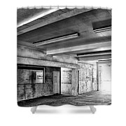 Underground Bw Shower Curtain