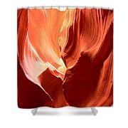 Underground Pastel Flames Shower Curtain