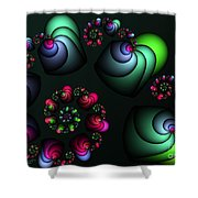 Underground Universe Shower Curtain