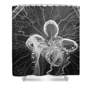 Underneath The Moon Jellyfish Shower Curtain