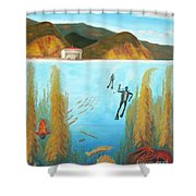 Underwater Catalina Shower Curtain
