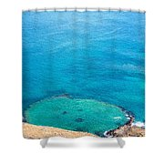 Underwater Crater In Galapagos Shower Curtain
