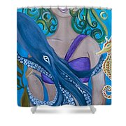 Underwater Mermaid Shower Curtain