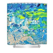 Underwater Wave Shower Curtain