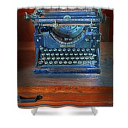 Underwood Typewriter Shower Curtain by Dave Mills