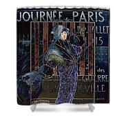 Une Valentine Parisienne Shower Curtain