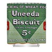 Uneeda Biscuit Vintage Sign Shower Curtain