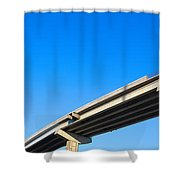 Unfinished Freeway Ramp Shower Curtain