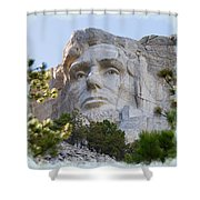 Unfinished Lincoln 2 Shower Curtain