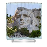 Unfinished Lincoln 3 Shower Curtain