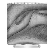 Unfolding And Enfolding -- V Shower Curtain