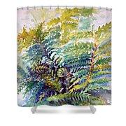 Unfurling Ferns Shower Curtain