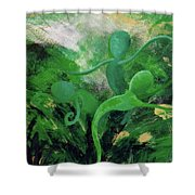 Unfurling Rainbow Soul Collection Shower Curtain