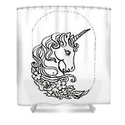 Unicorn Cameo Shower Curtain